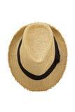 Odgórny widok antykwarski słomiany kapelusz Zdjęcie Stock