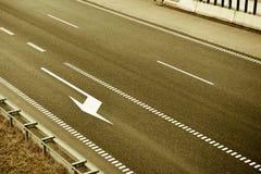 Odgórny widok autostrada pasy ruchu Staromodny brązu styl Obraz Stock