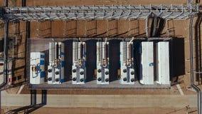 Odgórny widok benzynowa rafinerii produkcji fabryka zbiory wideo