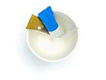 Odgórny widok biała papierowa filiżanka zdjęcie royalty free
