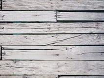 Odgórny widok biel zaszaluje drewnianą drogę przemian obrazy stock