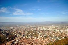 Odgórny widok Brasov centrum miasta Zdjęcia Royalty Free