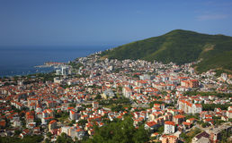 Odgórny widok Budva Montenegro Obrazy Royalty Free