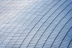 Odgórny widok budynku dach w pełni zakrywający z panel słoneczny Obrazy Stock
