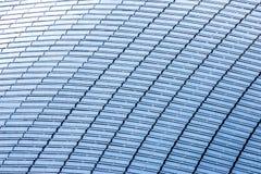 Odgórny widok budynku dach w pełni zakrywający z panel słoneczny Fotografia Royalty Free