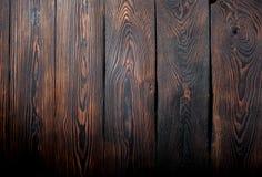 Odgórny widok ciemne drewniane deski Fotografia Stock