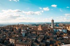 Odgórny widok część Siena fotografia royalty free
