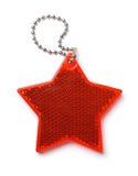 Odgórny widok czerwieni gwiazdy bezpieczeństwa odbłyśnik Obrazy Royalty Free