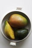 Odgórny widok dojrzali mango i avocado Obraz Royalty Free