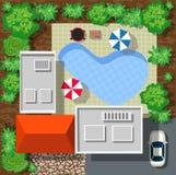 Odgórny widok domy royalty ilustracja