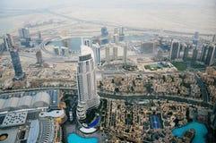 Odgórny widok Dubaj UAE Zdjęcia Stock