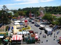 Odgórny widok Fairgrounds, Los Angeles okręgu administracyjnego jarmark, Fairplex, Pomona, Kalifornia Zdjęcie Royalty Free