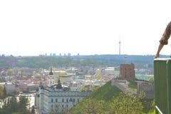 Odgórny widok główni widoki Vilnius Obraz Stock