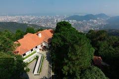 Odgórny widok Georgetown, Penang wyspa, Malezja spojrzenie od wierzchołka Zdjęcie Stock