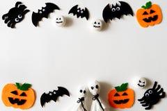 Odgórny widok Halloweenowi rzemiosła, Halloween pojęcie zdjęcie royalty free