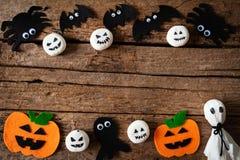 Odgórny widok Halloweenowi rzemiosła, Halloween pojęcie obrazy royalty free