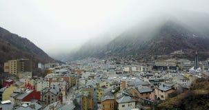 Odgórny widok halny miasteczko Andorra los angeles Vella, Catalonia zbiory
