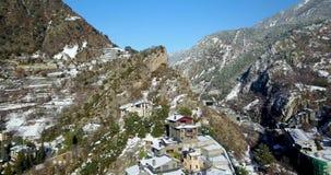 Odgórny widok halny miasteczko Andorra los angeles Vella, Catalonia zdjęcie wideo