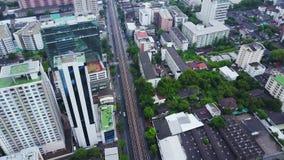 Odgórny widok HongKong Globalny miasto z rozwojów budynkami, transport, energetyczna władzy infrastruktura pieniężny zbiory