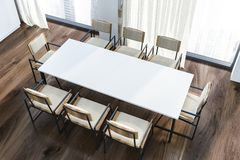 Odgórny widok jadalnia stół ilustracji