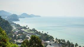 Odgórny widok Koh Chang wyspa Zdjęcie Stock