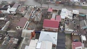 Odgórny widok Krasnodar miasta chmurny ranek zbiory wideo