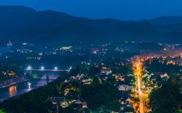 Odgórny widok Luang Prabang Fotografia Royalty Free