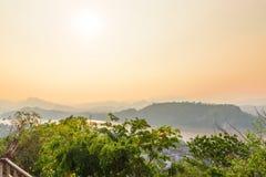Odgórny widok Luang Prabang miasto, Laos Obraz Stock