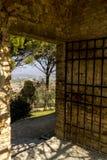 Odgórny widok mały antyczny miasteczko Fiesole, Włochy, Europa zdjęcie royalty free