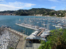 Odgórny widok marina Lerici e Fotografia Royalty Free