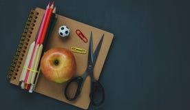 Odgórny widok materiały edukacja lub biznesowy biuro Zdjęcia Stock