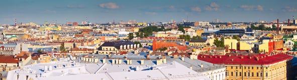 Odgórny widok miasto. Święty Petersburg, Rosja Zdjęcia Stock