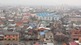 Odgórny widok miasto Krasnodar zbiory