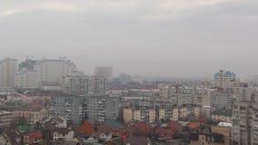 Odgórny widok miasto Krasnodar zbiory wideo