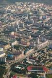 Odgórny widok miasto Nizhnevartovsk w wiośnie Zdjęcie Stock