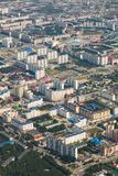 Odgórny widok miasto Nizhnevartovsk w wiośnie Obrazy Royalty Free