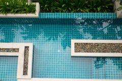 Odgórny widok mieszkanie własnościowe pływacki basen Obraz Royalty Free