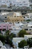 Odgórny widok Mieszkaniowe wille w Riyadh mieście, Arabia Saudyjska Obraz Royalty Free