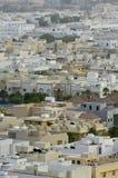Odgórny widok Mieszkaniowe wille w Riyadh mieście, Arabia Saudyjska Zdjęcie Stock