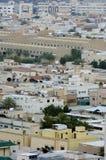 Odgórny widok Mieszkaniowe wille w Riyadh mieście, Arabia Saudyjska Fotografia Stock