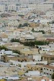 Odgórny widok Mieszkaniowe wille w Riyadh mieście, Arabia Saudyjska Zdjęcie Royalty Free