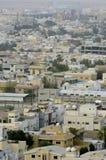 Odgórny widok Mieszkaniowe wille w Riyadh mieście, Arabia Saudyjska Zdjęcia Stock