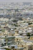 Odgórny widok Mieszkaniowe wille w Riyadh mieście, Arabia Saudyjska Obrazy Stock