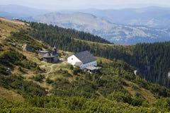 odgórny widok monastir kościelna góra Obraz Royalty Free