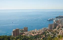 Odgórny widok Monte, Carlo - Obraz Royalty Free