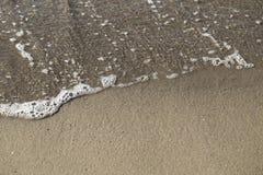Odgórny widok morze i piasek Fotografia Stock