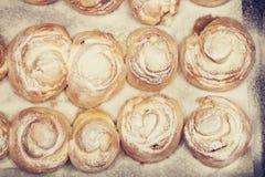 Odgórny widok muffins Obraz Stock