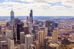 Odgórny widok Na Chicago zdjęcia royalty free