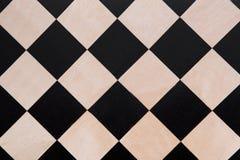 Odgórny widok na czarny i biały w kratkę teksturze Obraz Stock