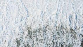 Odgórny widok na dennych fala Morze piana od statku wycieczkowego i fala zapas Tekstura piękna fala w oceanie woda morska Obraz Royalty Free